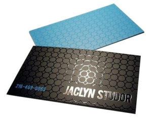 tipos de papel para impressão de cartão de visita - couché